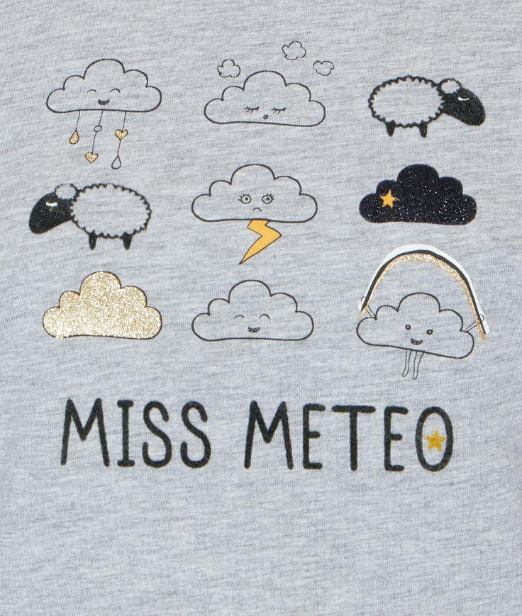 Top imprimé météo - Les manches courtes - Les hauts de pyjama - Pyjamas…