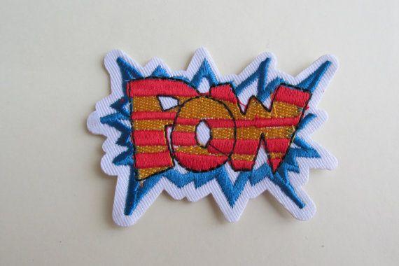 POW Iron on Patch by TheIrishKnittingRoom on Etsy