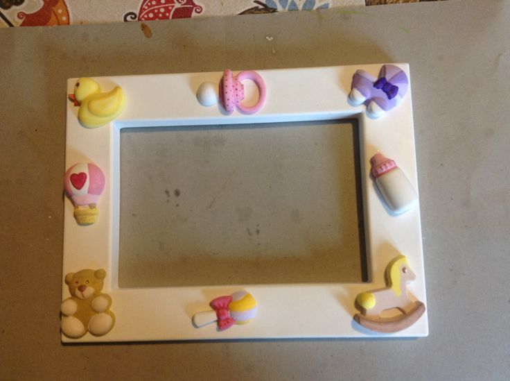 Frame and decorations in polvere di ceramica I painted