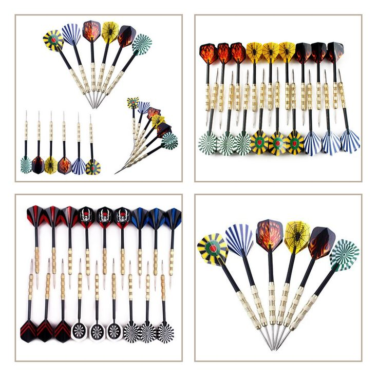 18pcs/set Plated Copper Iron Needle Tip Dart Darts With Nice Flights Throwing Toy Funny Home  Indoor Toys Hot Sale