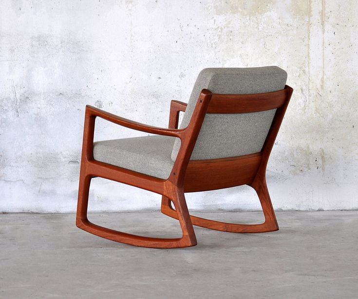 Ole Wanscher, Built By France And Son, Rocking Chair, Teak
