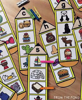 Frog Spot: Beginning Sound Activity Cards