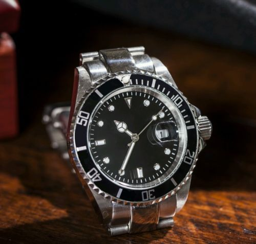 Rolex Prices Uk >> 40mm Submariner Homage Watch - Stainless; Black Sterile Dial; Rotating Bezel | eBay | Stainless ...