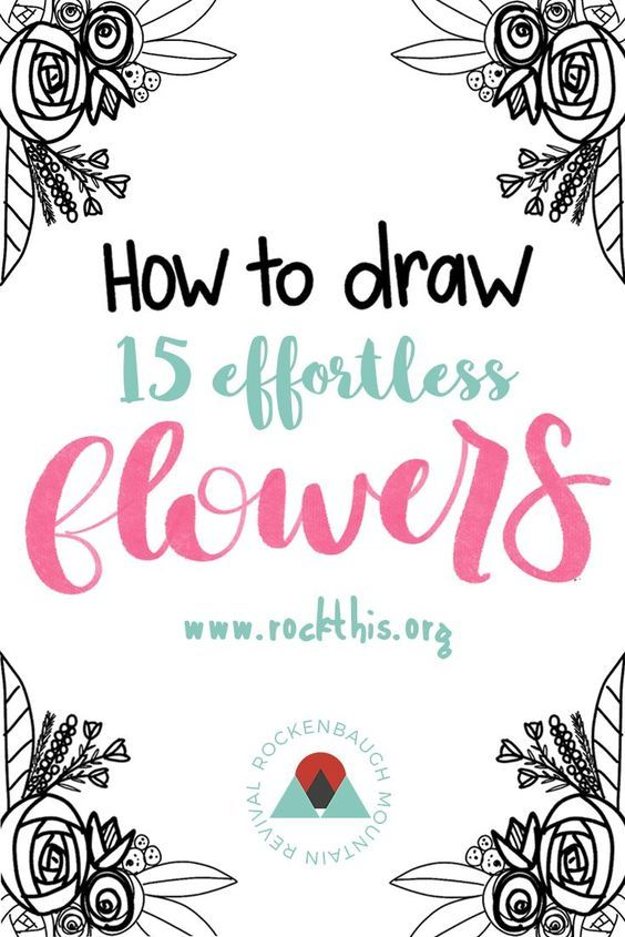 a video showing you how to draw 15 different flowers AND a printable practice sheet!