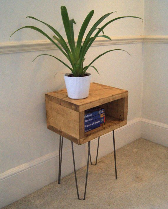 Industrial Bedside Table  Beautifully Handmade by ChattelsTrading