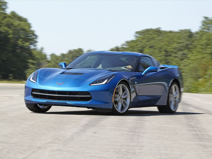 Good Blue Chevrolet Corvette C7 Car Picture