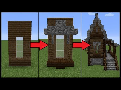 How to Make Better Windows on your Minecraft House - YouTube