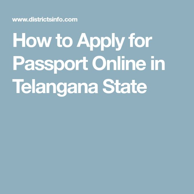 How to Apply for Passport Online in Telangana State