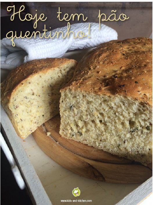 RECEITINHA: Pão caseiro super fácil