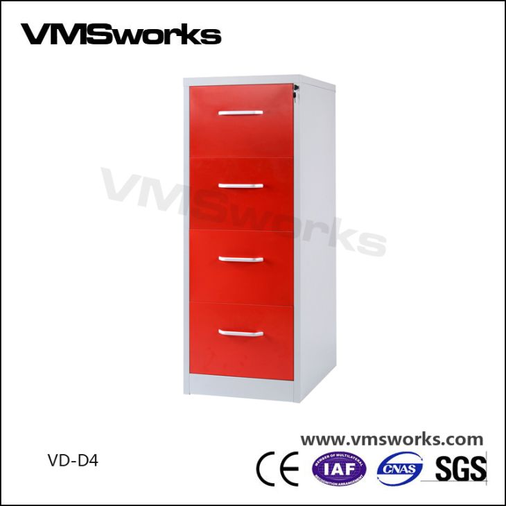 China High Quality Aluminium Alloy Handle 4 Drawer Vertical Office Filing  Cabinets Manufacturers,Suppliers,