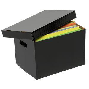 Marbig Coloured Archive Box Black
