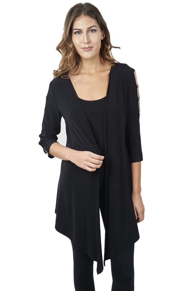 Black Cover-up with Jewel Accents