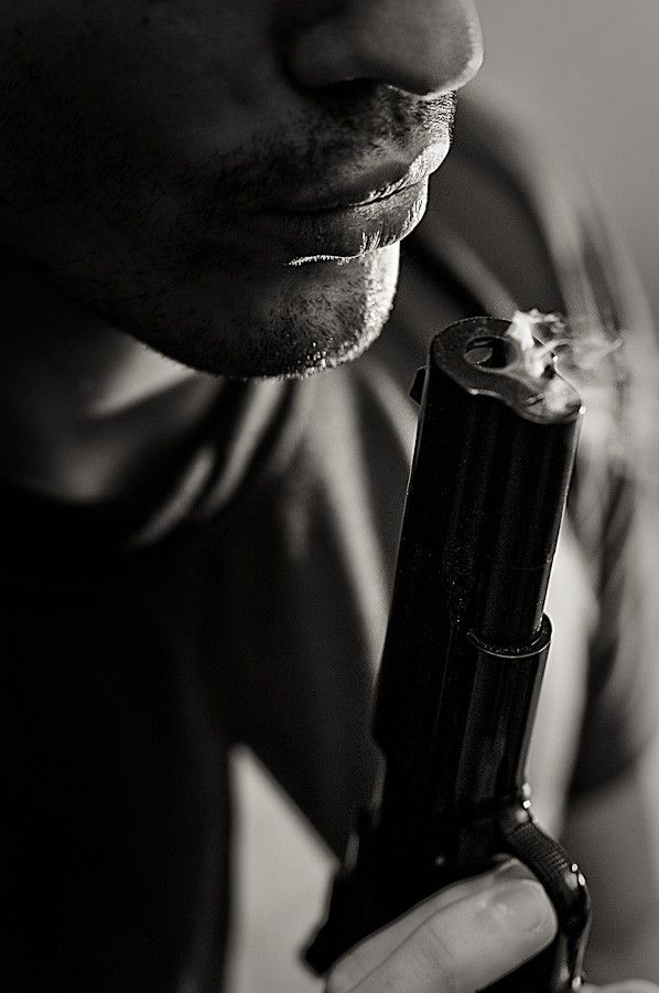 "He stared at her and blew the smoke away from his gun. ""Admit it. You love the taste of danger."""