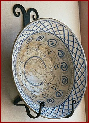 Wrought Iron Wall Plate Holder | Scottish Lion Wrought Iron - Wall Plate and Bowl Holders