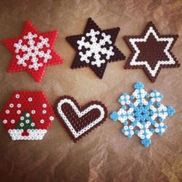 Christmas ornaments perler beads by Melissa