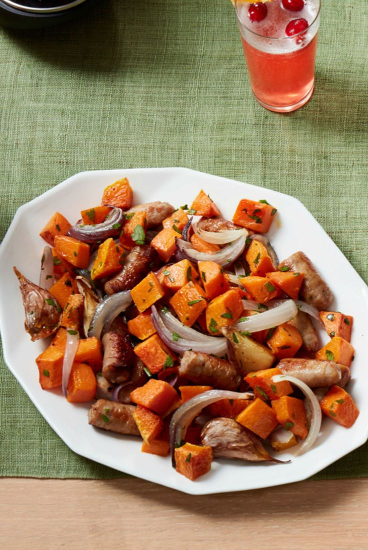 Roasted Sausage and Butternut Squash Hash