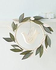 white dove wreath