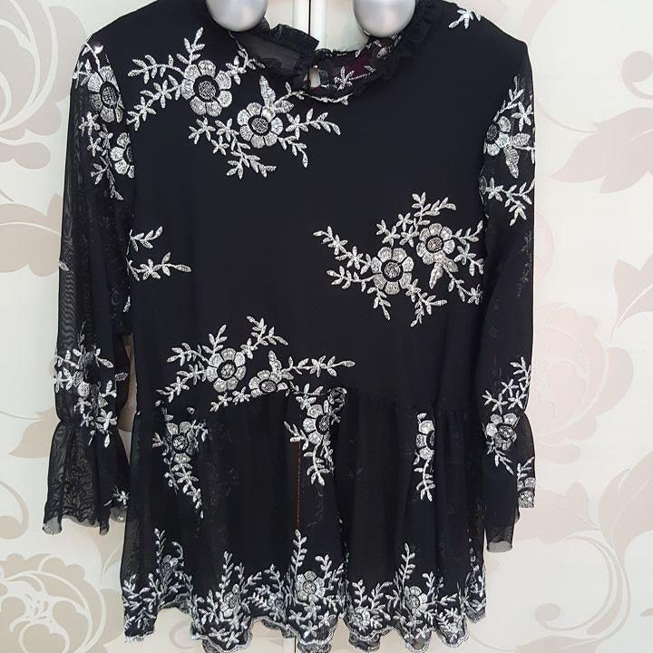 #camicia #nero e argento #carre' #valeria #abbigliamento