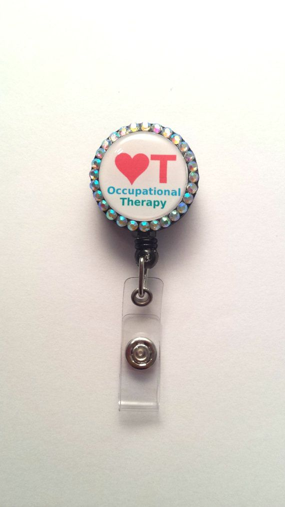 Occupational Therapy Heart - ID Badge Holder