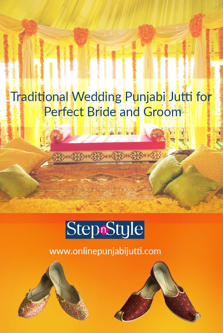 When planning your #Punjabi #Wedding dress, don't forget to add elegant #punjabijutti. Find handmade #traditional #wedding #Punjabi #jutti for men and women. Free shipping and cash on #delivery available at great #discounts online at onlinepunjabijutti.com.