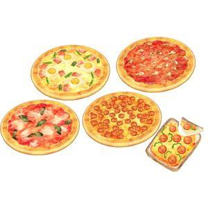ピザ4種類(ビスマルク、ペパロニ、マリナーラ、マルゲリータ)ピザトーストピザカッター、メッツァルーナ(ピザを切ったりハーブをきざんだりする道具)、ピザピール(石窯から取り...