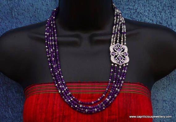 AmethystStarlight Purple necklace Evening necklace