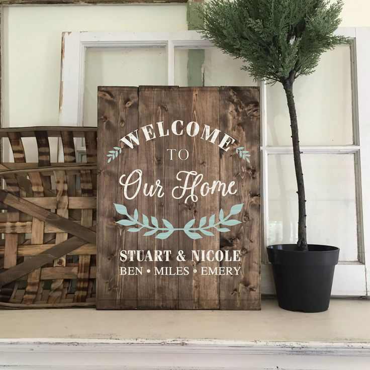 wood welcome sign made at AR Workshop