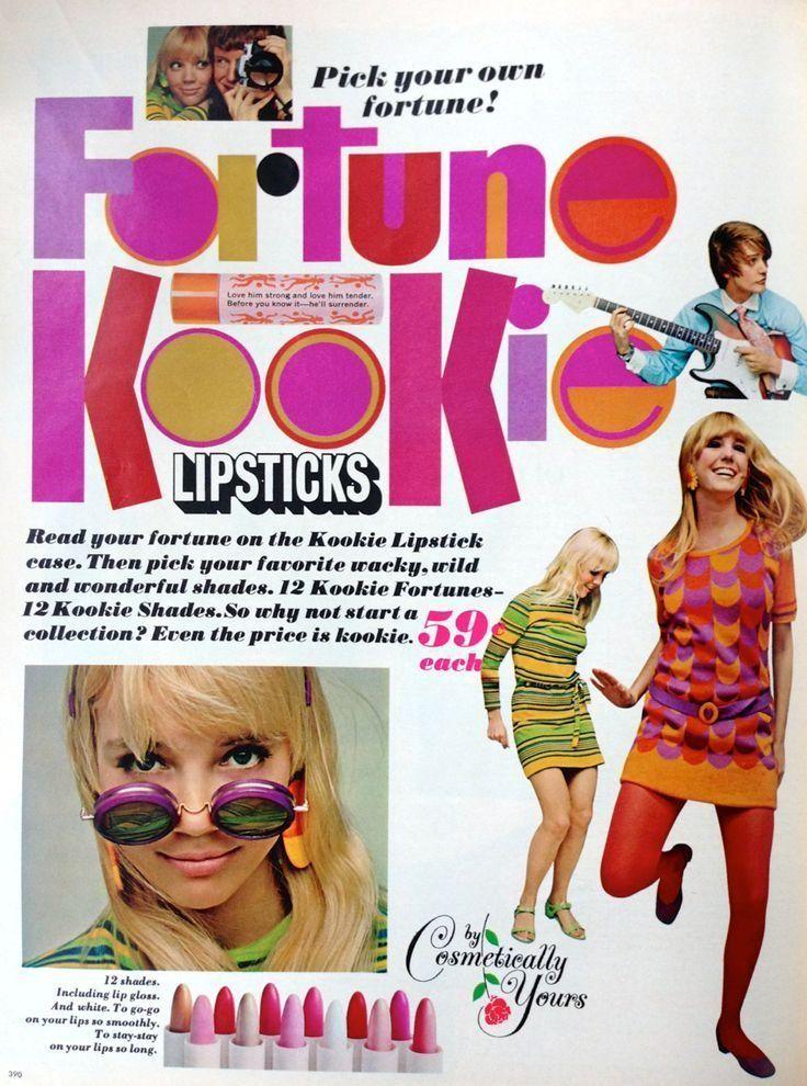 """Fortune Kookie lipsticks, c. 1967 """