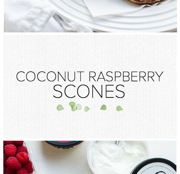 Coconut Raspberry Scones | www.kitchenconfidante.com | Did you know you can use coconut cream in baking? Try them in these light and tangy scones, perfect for brunch!