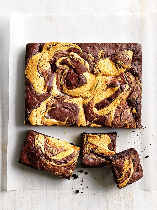 Chocolate Chunk And Peanut Butter Swirl Brownie | Donna Hay