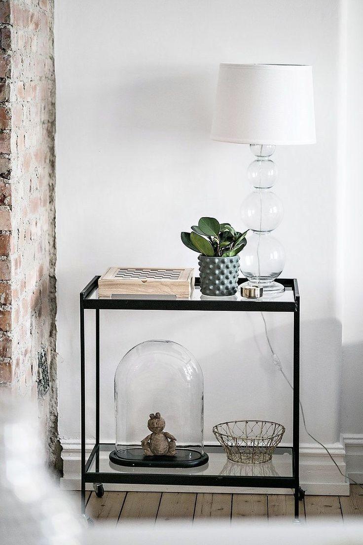 Decoración apartamentos pequeños: cocina integrada y detalles en ladrillo visto 12