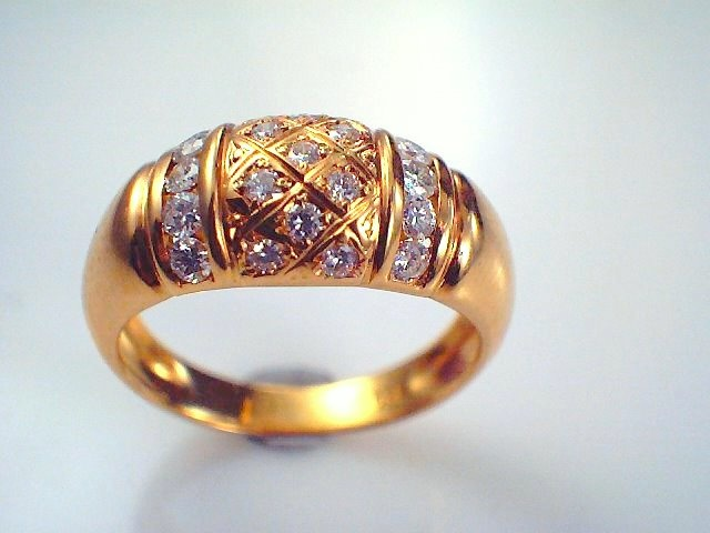 What do you think of this 18ct Yellow Gold Diamond domed dress ring ?