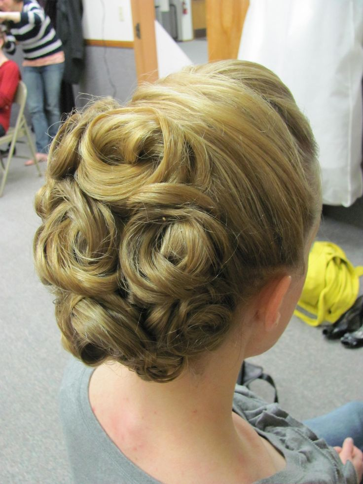 Brilliant 1000 Ideas About Pin Curl Updo On Pinterest Pin Curls Curling Hairstyles For Women Draintrainus
