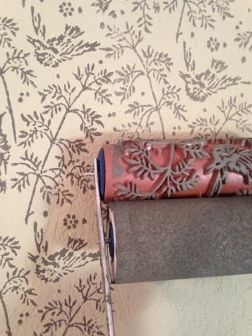 How To- Patterned Paint Roller, fun faux finish technique, in a bird pattern