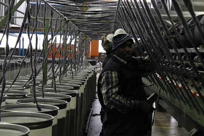 Inside the Sesli Blanket Manufacturing Shop