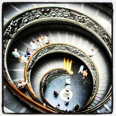 Rome  Italy  Vatican City Michelangelo Staircase