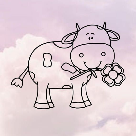 Cow svg  cow svgs  animal svgs  flower svgs  cute…