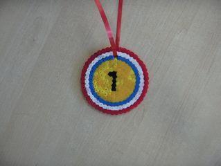 medaille van strijkkralen