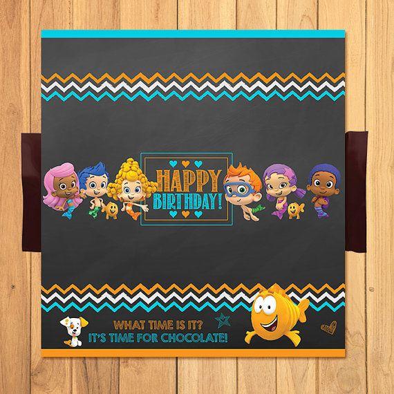 Bubble Guppies Candy Wrapper Chalkboard  Bubble by SometimesPie