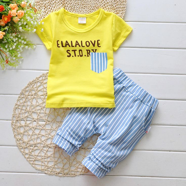 letter print Baby Boy Clothes 2017 Summer Fashion Kids Boys Clothes Toddler Boys Clothing Set T-shirt + Pants 0-3 Years T533 //Price: €21.03 & FREE Shipping //   #fashion #baby #clothes #trendy #2017