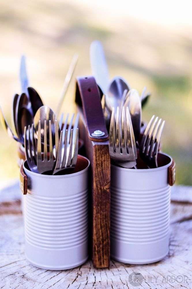You might want to save tin cans when you see this gorgeous gift idea!
