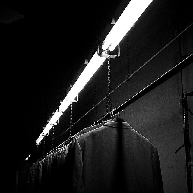 Foto sacada en la fábrica recuperada Brukman (Buenos Aires), 2009