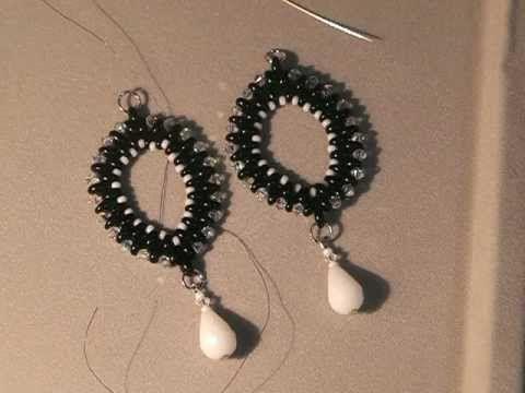 Tutorial: Orecchini asola con twin bead - YouTube