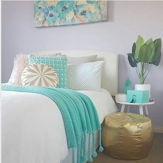 "181 Likes, 5 Comments - Kmart Desired & Inspired Home (@kmart.desired.inspired.home) on Instagram: ""Teen girl bedroom styling by @bextas_home_life Kmart flannelette sheet set, waffle quilt cover,…"""