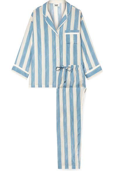 ce02c8faa1 Sleepy Jones   Marina striped cotton-blend pajama set   NET-A-PORTER