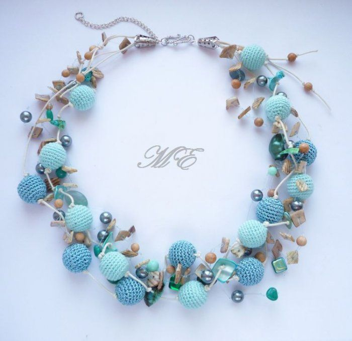 crochet beauty jewelry   make handmade, crochet, craft