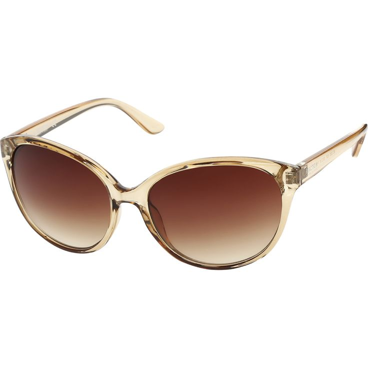 """Kenneth Cole"" Caramel Brown Butterfly Sunglasses - TK Maxx"