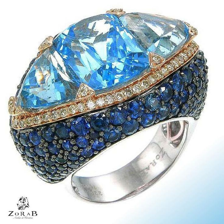 Reflect the beauty of a clear, #blue sky with this stunning #Zorab Creation ring.  #jewelry #jotd #fashion #luxury #luxuryjewelry #luxelife #luxurylife #instafashion #instajewelry #instaluxury #swag #beautiful #diamonds #bling #ring #palladium #bluegem