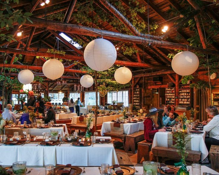 Oh. My. Goodness. There aren't words for how amazing this rustic indoor wedding reception is.