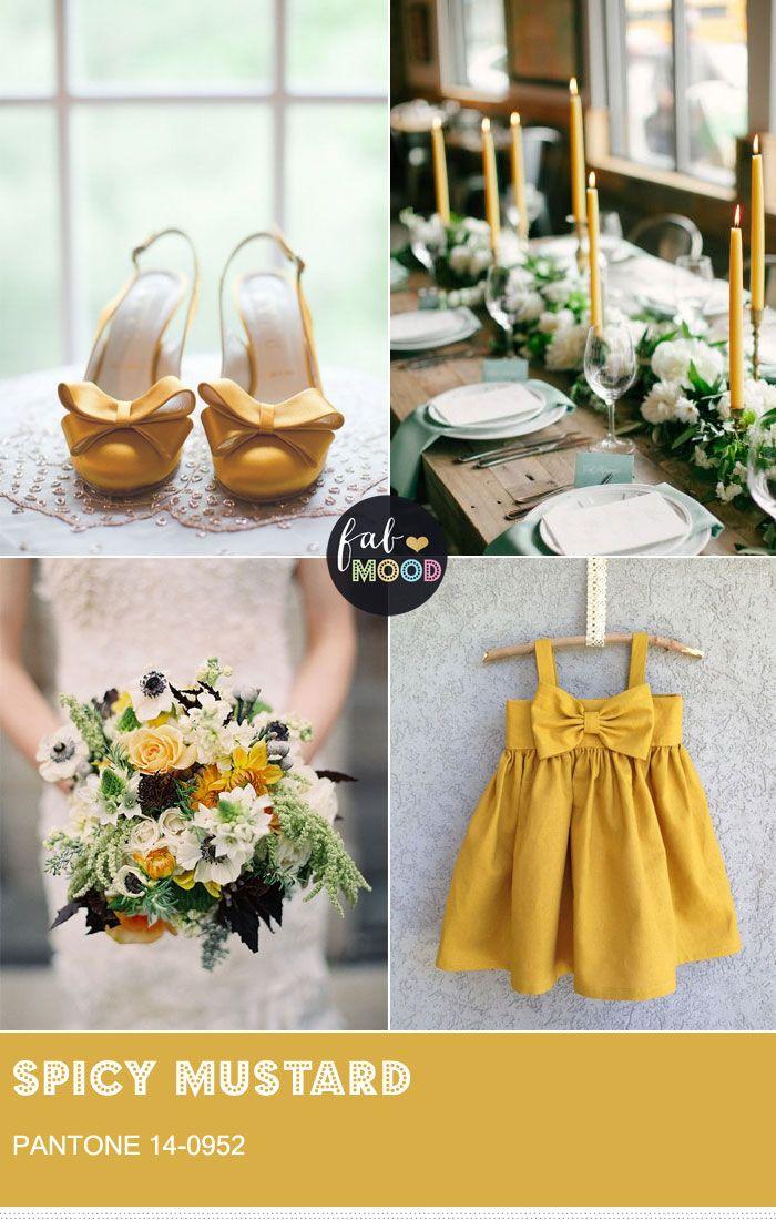 Pantone Spicy Mustard wedding colour theme { Pantone Fall 2016 }  #weddings #fallwedding